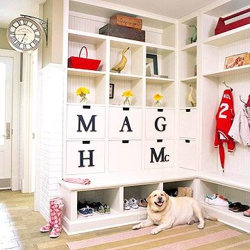 Mudroom.  I'm hoping one of those drawers is for the dog.  Mine will be.