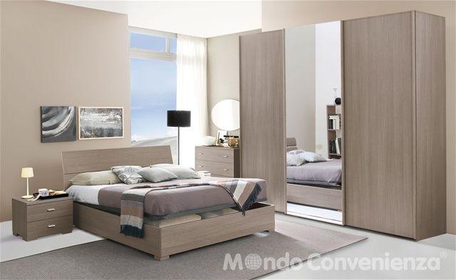 Nella sua versione in rovere grigio, la camera da letto City crea un ...