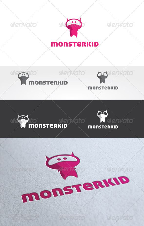 Monster Kid Logo Template | Pinterest | Kids logo, Logo templates ...