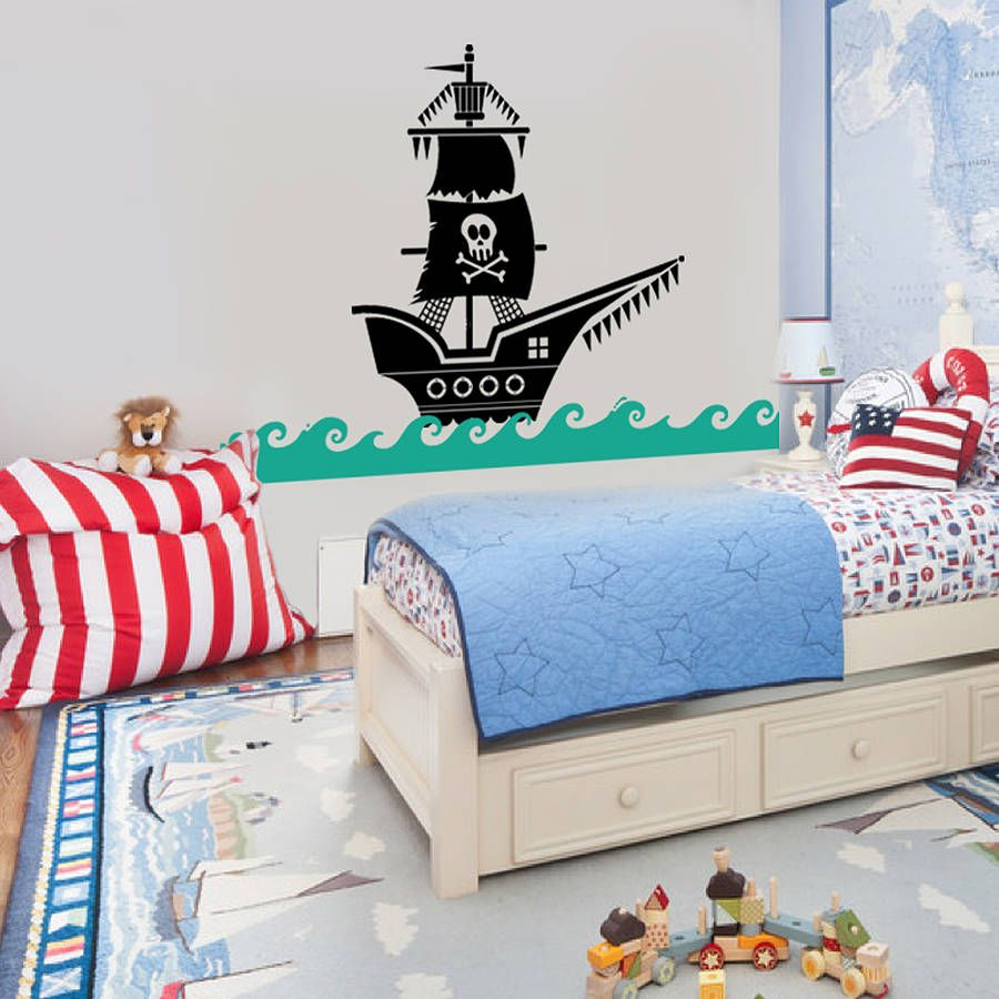 Pirate Ship Wall Sticker Decal Pirate Ships Wall Sticker And Walls