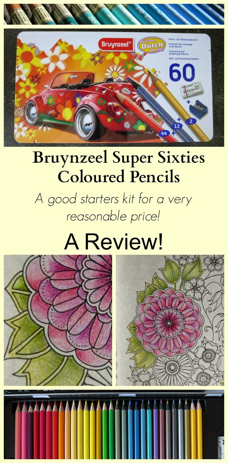 Passion For Pencils Review Bruynzeel Super Sixties Coloured