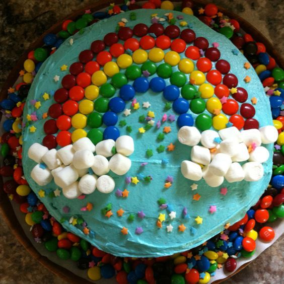Swell Rainbow Cake For My Little Girls 4Th Birthday But Wait Theres Personalised Birthday Cards Veneteletsinfo