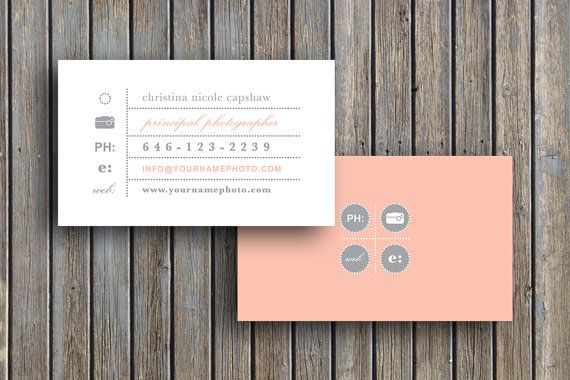 Photography Templates Business Card Template Business Etsy Vintage Business Cards Template Vintage Business Cards Business Card Template