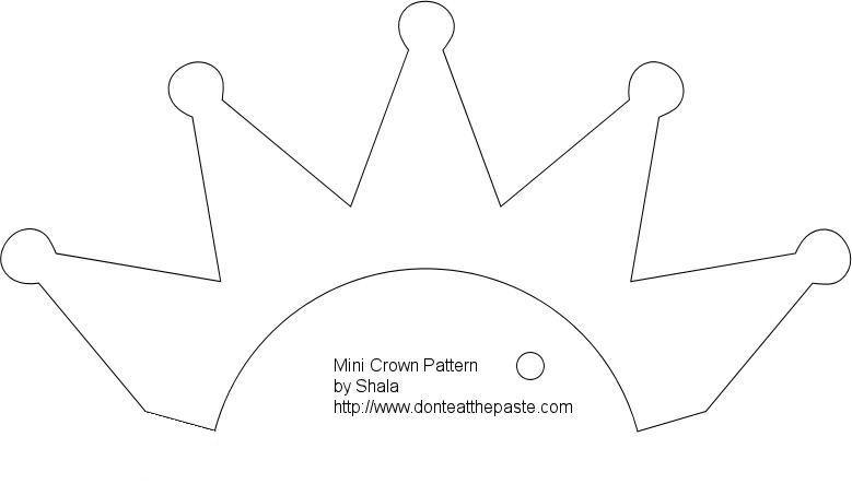 Felt crown, Crown template, Crown pattern