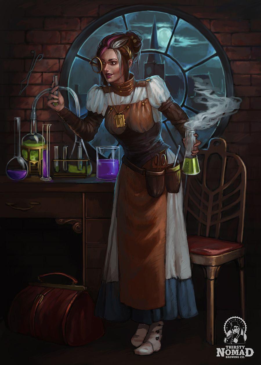 Fantasy Scientist Art