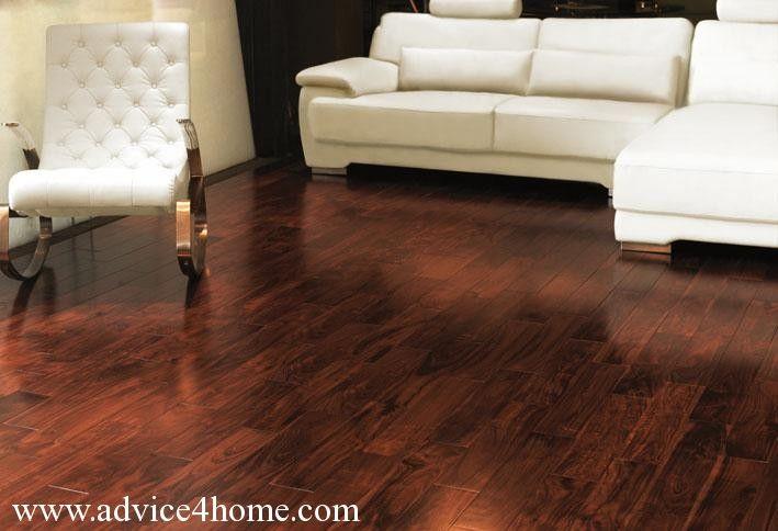 Hardwood Flooring And White Sofa Design