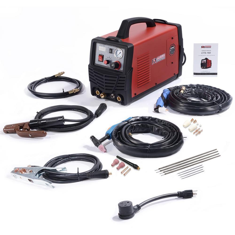CTS-160 30A Plasma Cutter 160A TIG-Torch//Stick Arc Welder 3-in-1 Combo Welding
