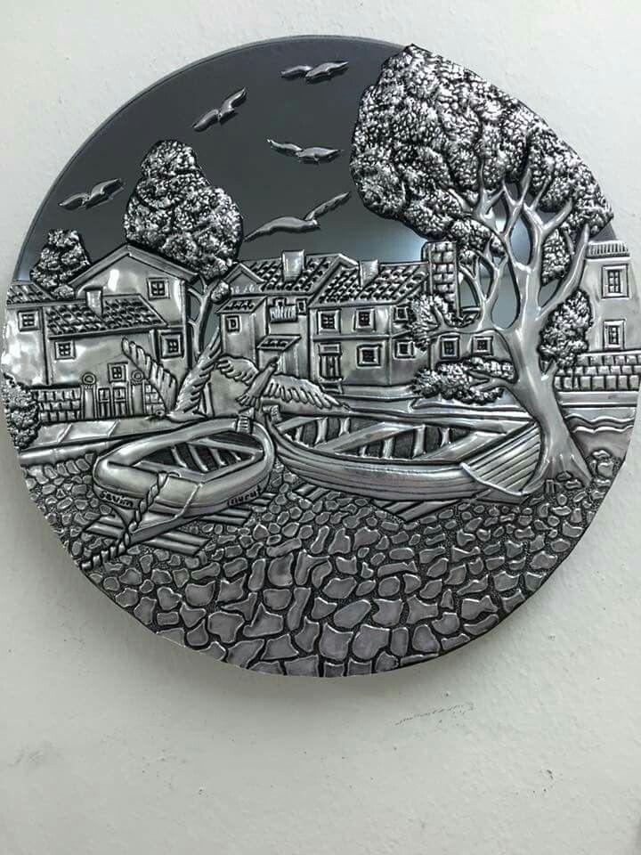 Repujado Estano Arte Lamina Artesanias De Papel De Aluminio Estampado De Metales