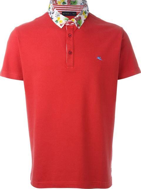ETRO Floral Collar Polo Shirt. #etro #cloth #shirt