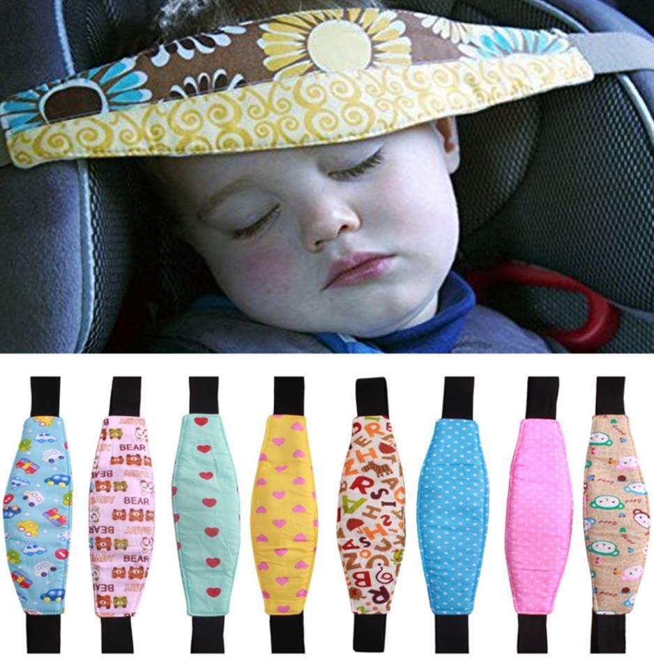 HULISEN 2Pcs Baby Carseat Head Support Blue Carseat Straps Pillow Support Band Car Seat Sleep Positioner for Toddler Infants Slumber Sling
