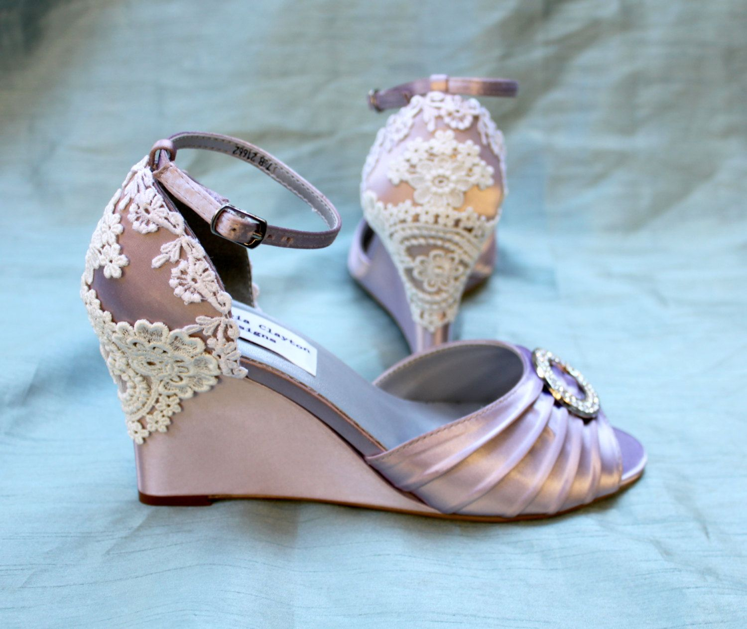 Wedding Shoes wedges Lace wedges Clara by TheCrystalSlipper, $250.00 ...