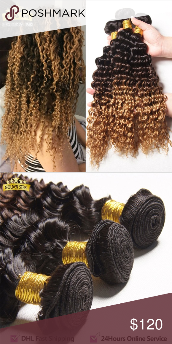 Peruvian Ombre Deep Wavy Hair 22, 24, and 26 inch. Peruvian Ombre Deep Wavy Hair,Ombre Deep Wave 3pcs Cheap Peruvian Ombre Hair Extensions Deep Curly Human Hair Blonde Deep Wave Other