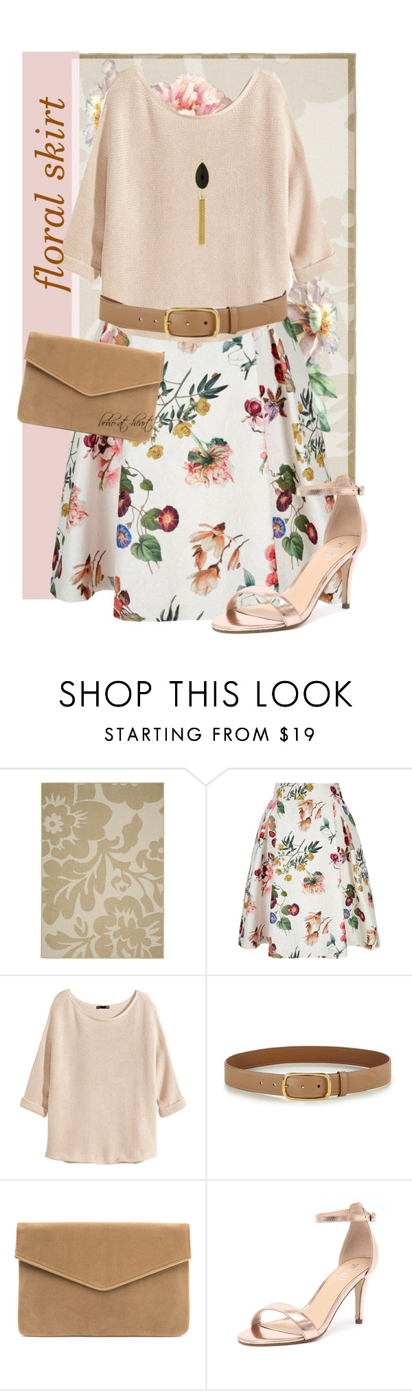 """Floral Skirt"" by boho-at-heart ❤ liked on Polyvore featuring Garland Rug, Yumi, H&M, Prada, Verali and Target"