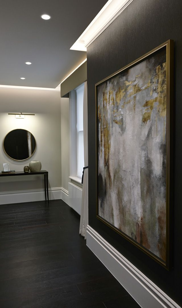 High End Luxury Interior Designers In London. #Homedecor #InteriorDesign |  Large Fine Art Paintings In Hallway | Foyer Home Decor Ideas | Interior  Design