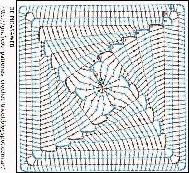 Patrones ganchillo crochet graficos tricot dos - Patrones tapetes ganchillo ...