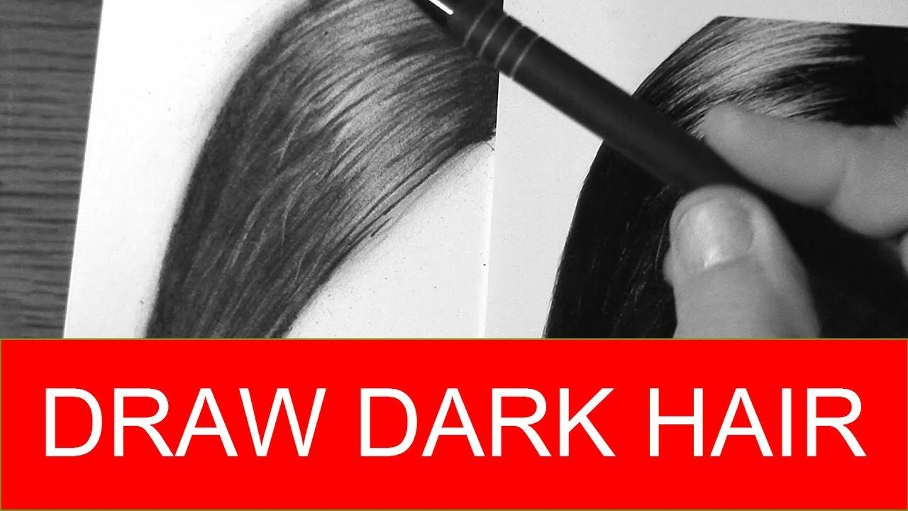 How To Draw Dark Hair Quick And Easy Realistic Drawing Tutorial Realistic Drawings Drawing Hair Tutorial Easy Realistic Drawings