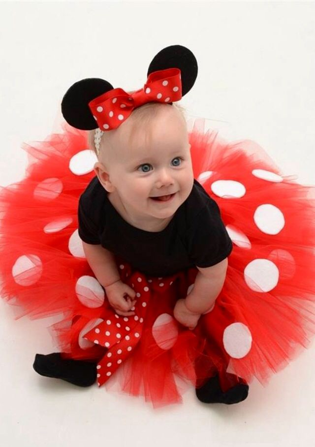 Tutu Minnie Mouse Costume...I made this costume for my baby girl, Heidi Marie's first Halloween...That's her modeling it :-)