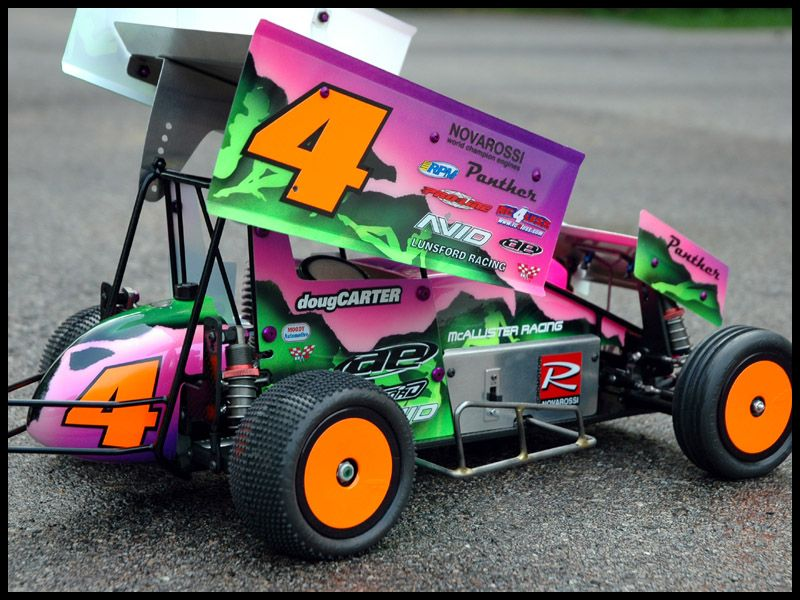 Painted Sprint Cars Moody Scale Sprint Car Dirt Track
