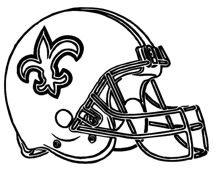 Image Result For Free Printable Football Helmet Templates Football Coloring Pages Football Helmets New Orleans Saints Football
