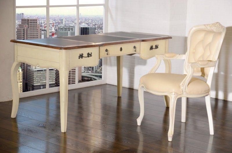 Schultisch antik  Schreibtisch inkl Holzstuhl Vintage - Birke massiv - Antik-Look ...