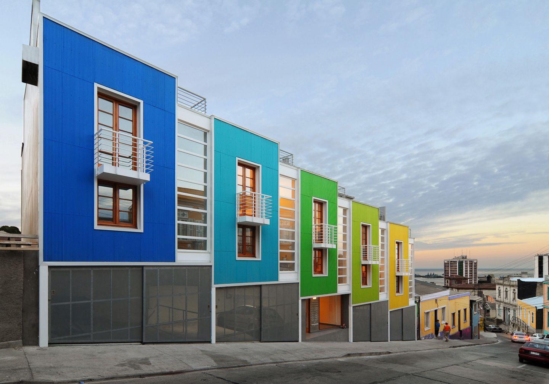 Colores alegres y llamativos para exteriores