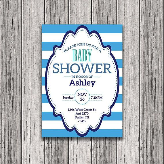 Printable Baby Shower Invitation That You Can Customize