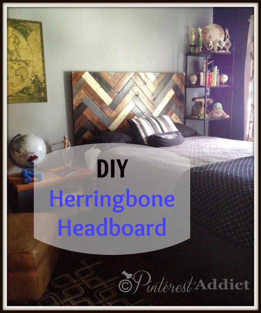 How To Make A DIY Herringbone Headboard LOVE!! Shouldnu0027t Be Difficult To