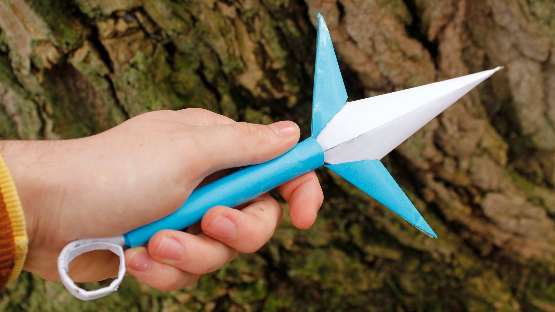 Kunai Minato Paper Naruto Origami Pinterest Sword Nakano Kay Youtube Tutorial Diy