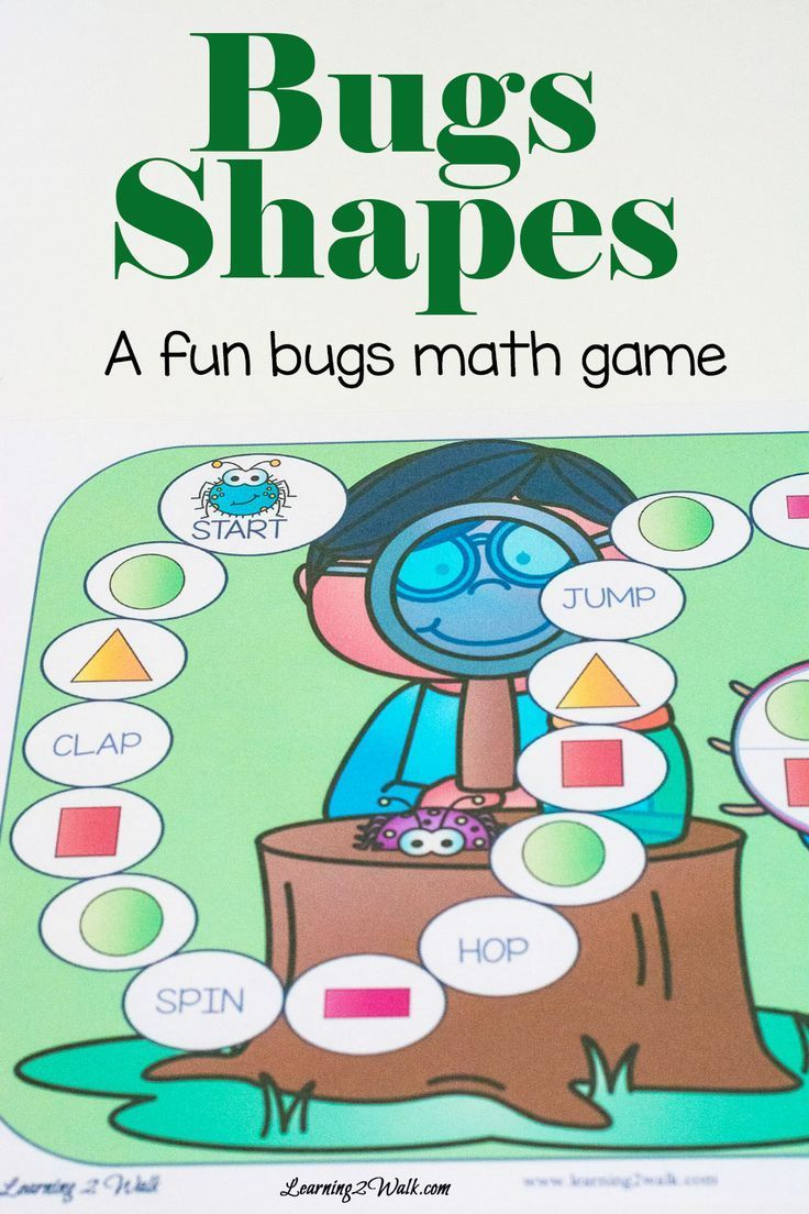 Bugs Fun Kids Math Games- Bug Shapes | Shape games, Gross motor and ...