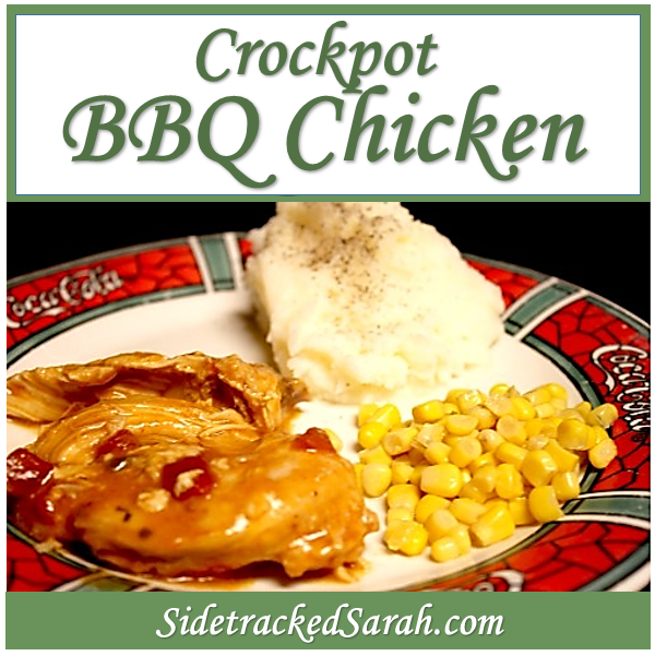 Crockpot BBQ Chicken - One of the most simple recipes you'll ever use for your slow cooker!