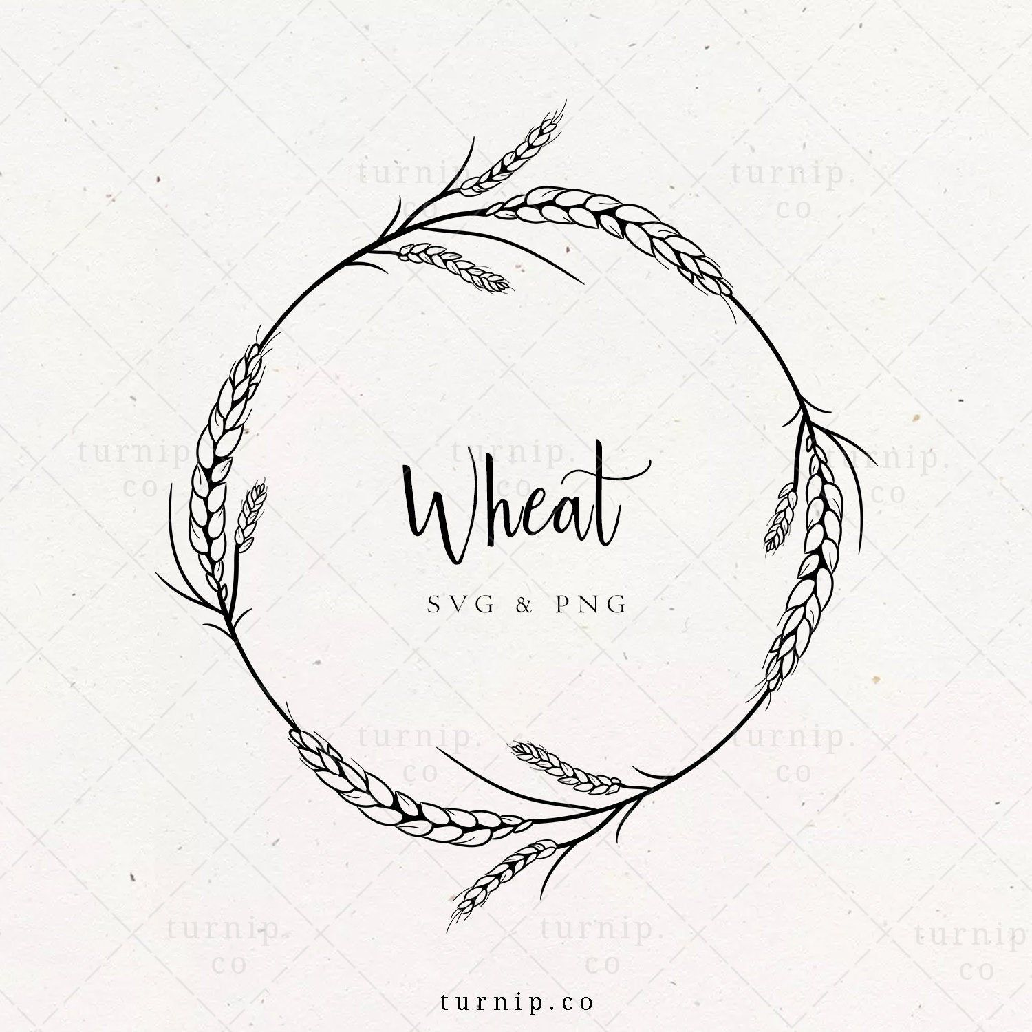 Laurel Wreath Svg Wheat Wreath Clipart Thanksgiving Wreath Png Wedding Logo Label Design Hand Drawn Frame Border Instant Download How To Draw Hands Wheat Tattoo Drawing Frames