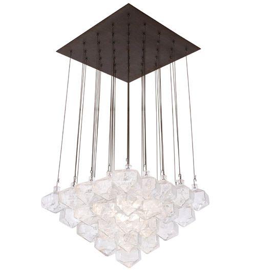"""Gio Ponti Glass Chandelier- 26"""" Dia, 17"""" H glass, $18,000 Urban Archeology"""