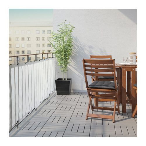 DYNING Balcony privacy screen, white, 98 3/8x31 1/2 - IKEA