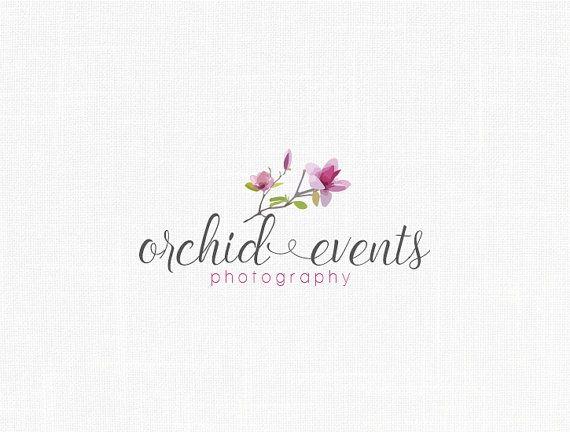 Premade Orchid Logo Design Events Logo Wedding Logo Fashion Event Logo Logo Design Event Photography Logo Design