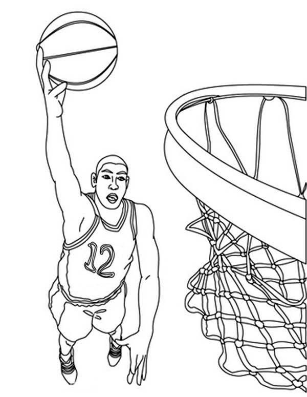 Superior Coloring Pages Basketball Player Kevin Durant