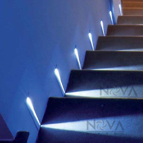 Led Step Lighting Ac100V To 240V Input 12Pcs Blade Step Light White Led Recessed