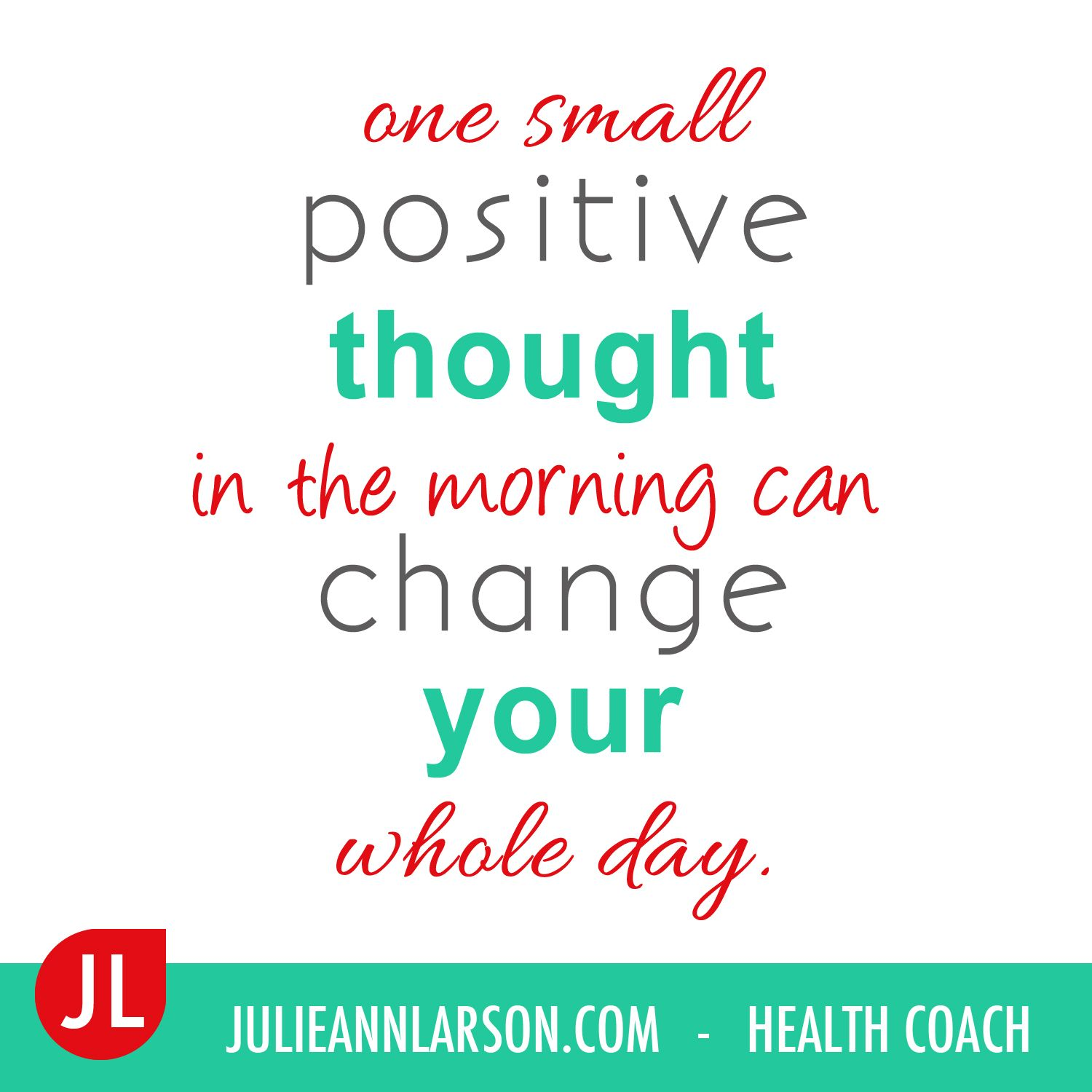 A daily affirmation to live by!  Practice this everyday for optimal health.