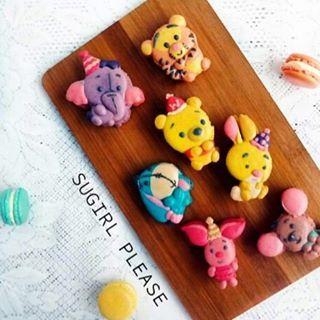 winnie the pooh party theme macaron