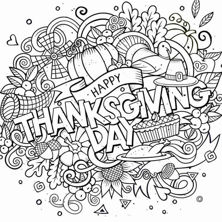 Happy thanksgiving day adult coloring pages pinterest for Free adult thanksgiving coloring pages