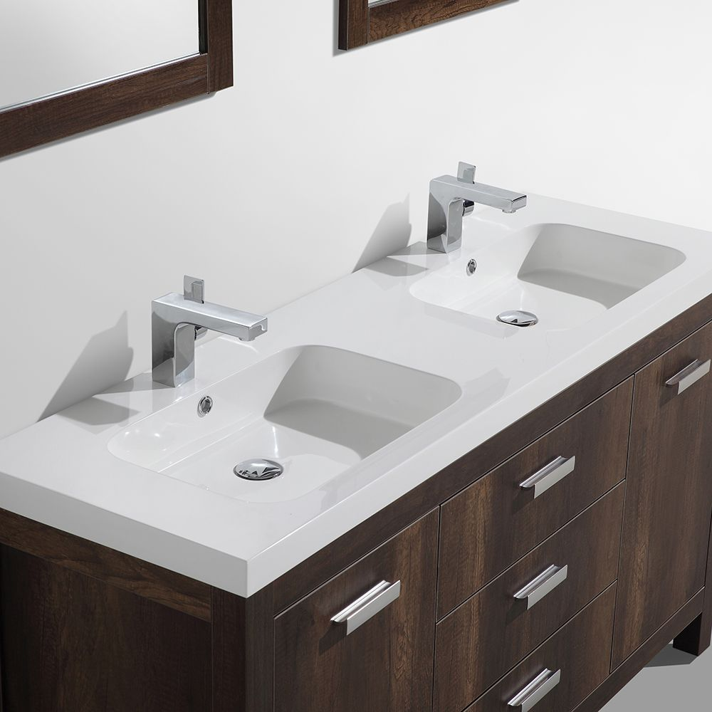 alya bath ripley 60 double modern bathroom vanity in chesnut wood rh pinterest co uk