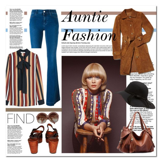 """Auntie Fashion"" by annatiblog ❤ liked on Polyvore featuring STELLA McCARTNEY, MANGO, Pierre Cardin and vintage"