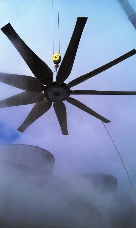 Cooling Tower Fan At The Fairless Hills Power Station From