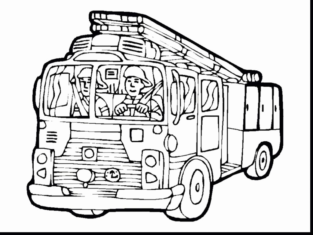 Printable Fire Truck Coloring Page Beautiful Free Fire