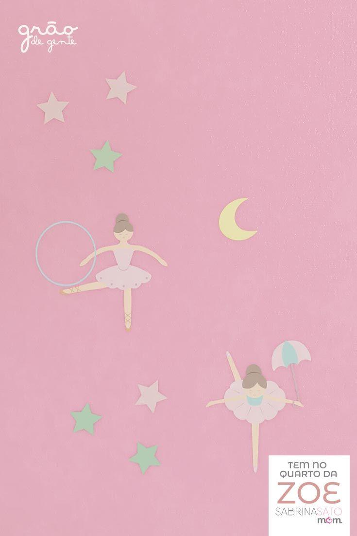 O Adesivo de Parede Bailarinas Trapezistas da Linha Sabrina Sato Mom é  perfeito para personalizar a 864b5e57cc