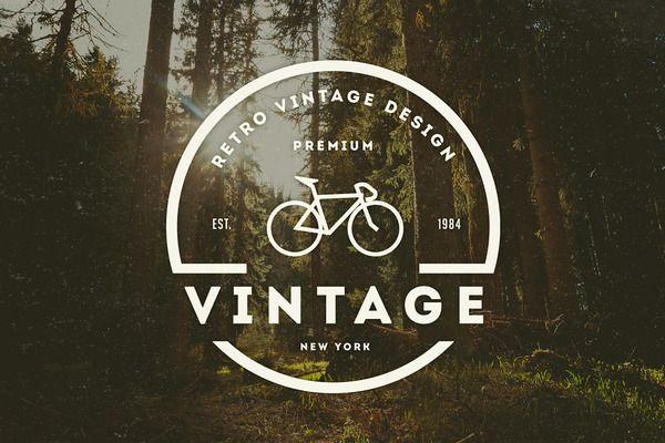 14 Vintage Logos & Badges - Logos - 1