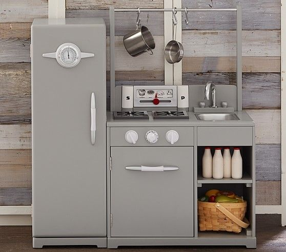 Gray All-in-1 Retro Kitchen | Pottery Barn Kids | Kid Stuff ...