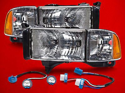 Conversion Headlights Left Right Kit Pair Fits 94 02 Dodge Ram Sport Pickup Ebay Dodge Ram Sport Ram Sport Dodge Ram