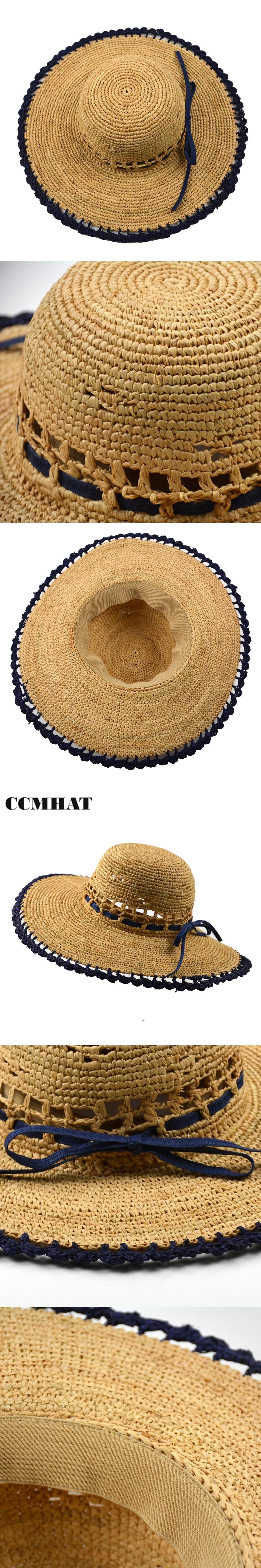 Hollow Raffia Sun Hats For Adult Fashion Foldable Soft Raffia Straw Hats  Summer Women Sunscreen Breathable 052b2fa15b15