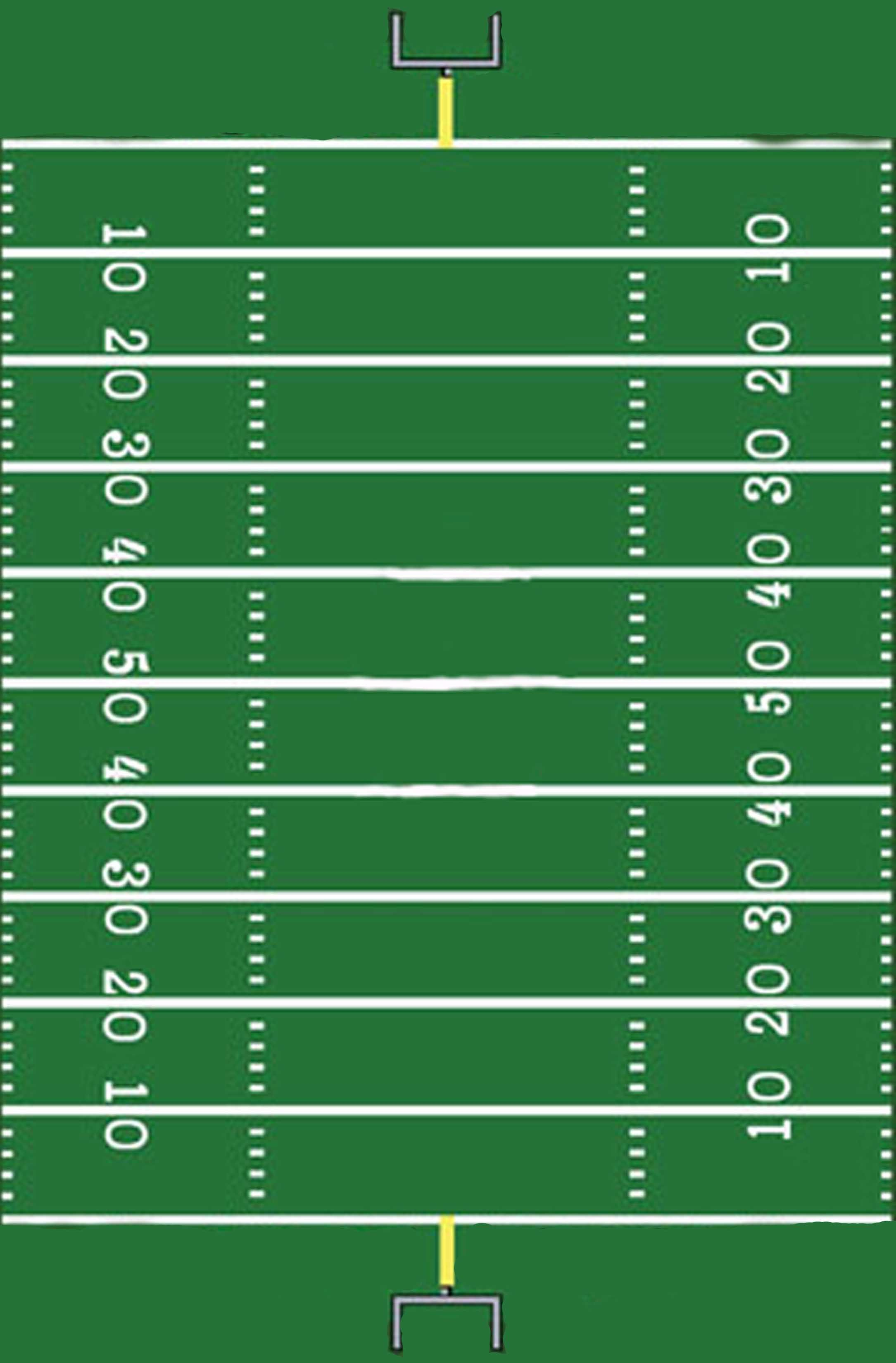 Print Out This Football Field And Let Your Kids Track The Ball And Learn How To Pay Attention