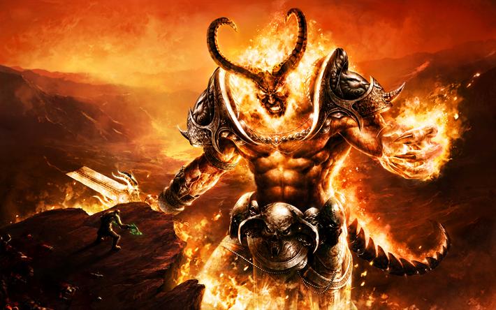Lataa kuva Sargeras, 4k, demoni, Vau, World of warcraft